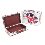 Wooden Suit Cases Nested Set of 2 - UNION JACK