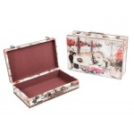 Wooden Suit Cases Nested Set of 2 - MARILYN Scene