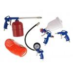 Air Spray Gun Tyre Gauge Tool Kit 5pc Set