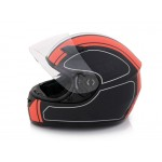 Motorbike Helmet Motorcycle Biker L Red and Black
