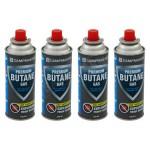 Premium ISO Butane Gas Cartridges 220g x4 Pack