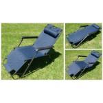 Deck Recliner Chair Sun Lounger Chairs Blue