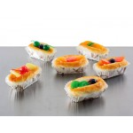 Artificial Display Food Decoration - Oblong Buns 6pc