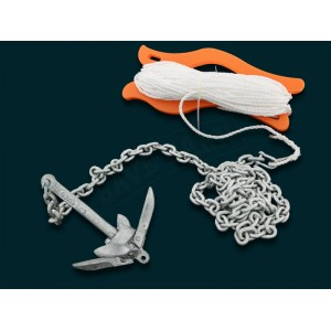 Kayak Anchor Kit with Chain, Rope & 700g Anchor