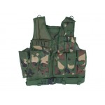 Camo Hunting Shooting Vest with Pistol Holster