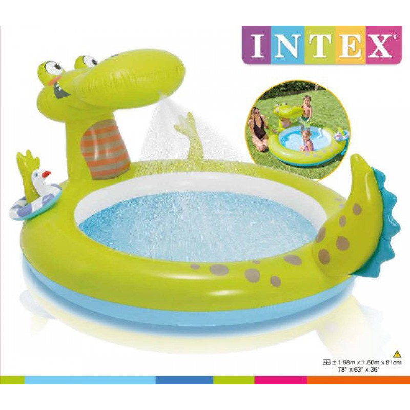 Inflatable Gator Spray Pool Intex