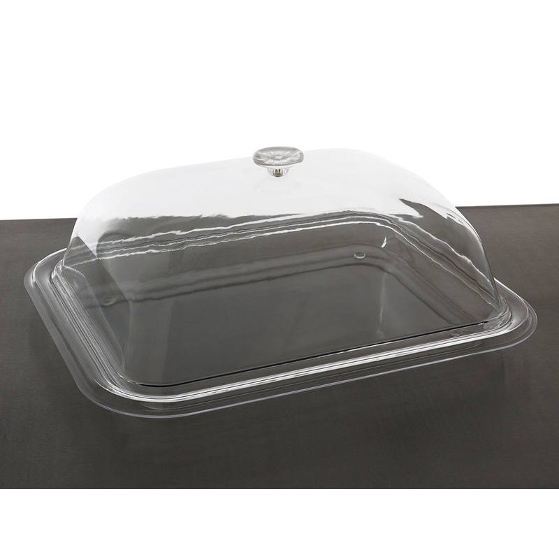 Small Serving Tray With Domed Cover Lid Food Grade