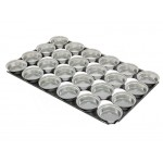 "24x Pie Baking Tray 28.5"" S/S Self Cutting Circle"