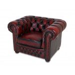 Leather Lounger Chair 100% Genuine Leather Red