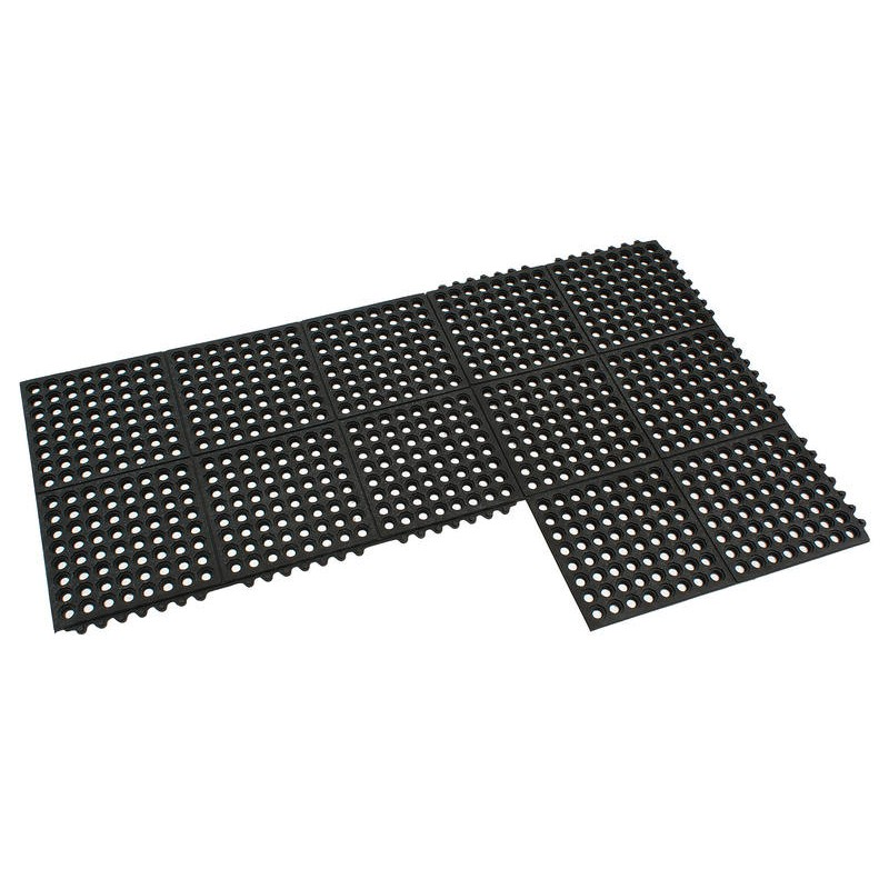 Rubber Floor Mat Commercial Interlocking 60x90cm