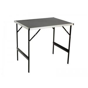 Aluminium Frame Folding Portable Table 0.8m Black